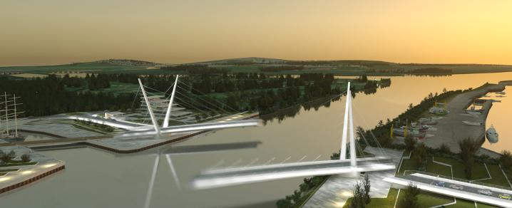 An artist impression of the Clyde crossing which is part of the Clyde Waterfront Renfrew Riverside project