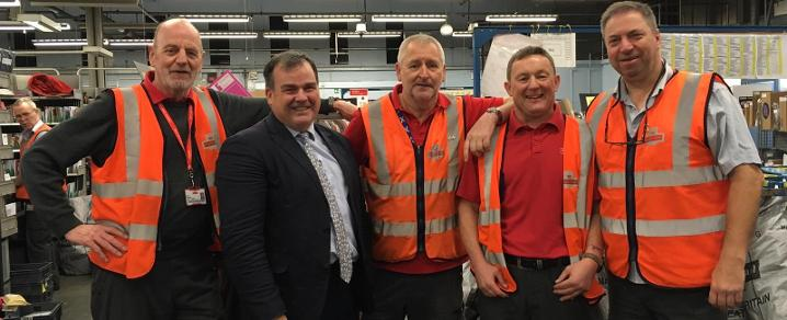 Council Leader with posties