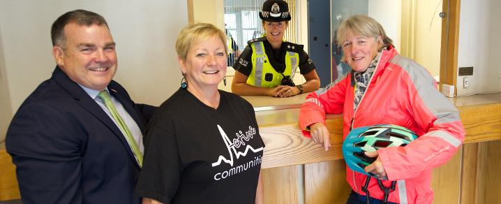 Leader with Active Communities at former Johnstone Police Station
