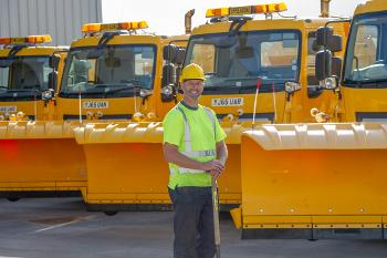 Eric Phillips with the gritters