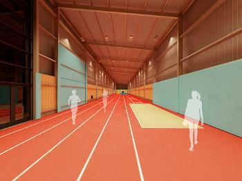 Kilbarchan running track. (credit CRGP Architects & Surveyors)