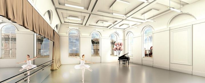 Paisley Town Hall dance studio