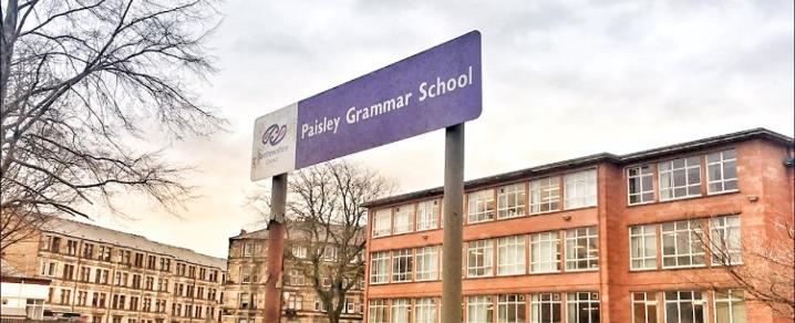 The front of Paisley Grammar School