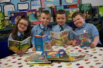 •	Photo shows pupils from St Anthony's Primary in Johnstone (l-r): Olivia Regan, Jack McLaughlin, David Baird and Corey Jamieson, which was named Literacy School of the Year by the UKLA in March 2018.