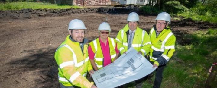 The Council Leader at Lapwing Lodge to see construction starting on a new hall