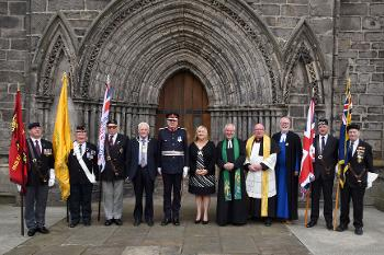 Provost and Group at Paisley Abbey
